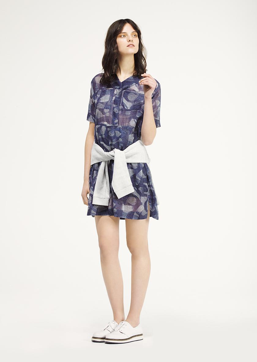 <p><span>Orchard</span> printed Cotton silk tunic Dress</p><p><span>Jenna</span> Round neck sweatshirt in marble fleece</p><p><span>Parade</span> Laced Derby style sneaker</p>