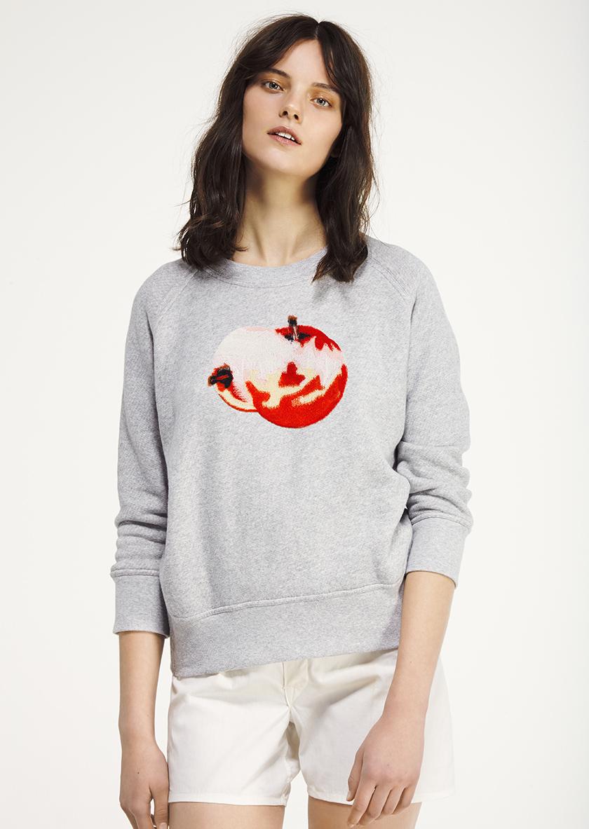 <p><span>Apple</span> Crew neck raglan sweatshirt</p>